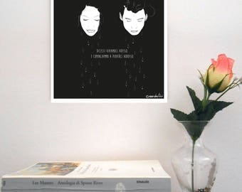 "Sketch print on rigid support-""Marco Bertucci/Viviamoci now"""