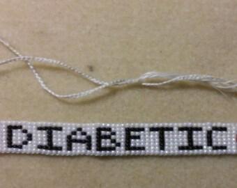 Diabetic Beaded Alert Bracelet