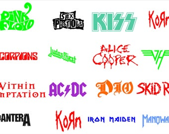 Rock Band Decals Etsy