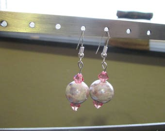 Pink Crystal Earrings