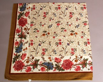 Vintage French Cotton Table Scarf