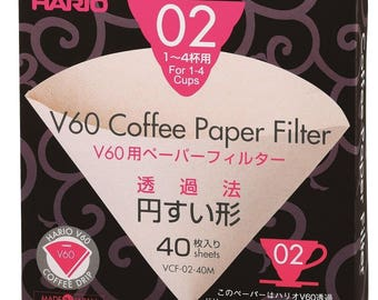 V60 Hario Coffee Dripper filters (1-4 cups)