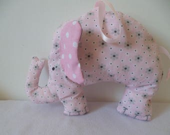 Pink and grey elephant pillow/plush