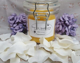 Natural Beewax Aromatherapy Candle with Jasmine and Rose Essentail Oil