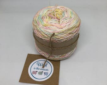 Hand Dyed 4 ply Superwash Merino - Unicorn Rainbow