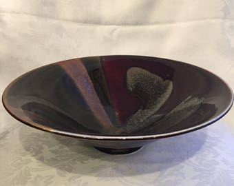 Large glazed ceramic bowl