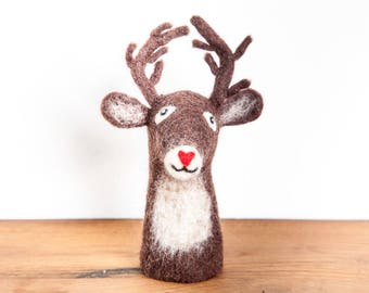 Egg Warmer deer felt handmade