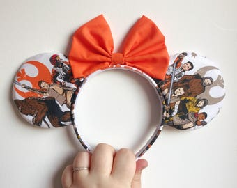 Girls Star Wars, Rebel Alliance, Mickey Mouse, Character Ears Headband