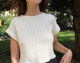 Hemp Top, Woman, Organic Fashion, Handmade, Vegan, 100% Hemp