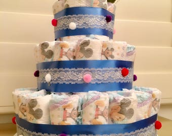 Three Tier Diaper Cake