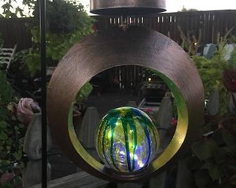 Round Solar Contempo Lantern