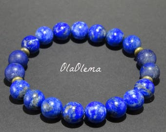 Lapis Lazuli Bracelet Lapis Bracelet Gemstone Bracelet Lapis Lazuli Jewelry Lapis Stone Bracelet Crystal Bracelet Lapis Lazuli Mens Bracelet