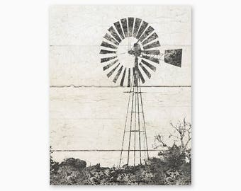 RUSTIC WALL ART, Windmill Art Printable, Farmhouse Decor, Farmhouse Printable, Country Home Decor, Diy Wall Art, Instant Download