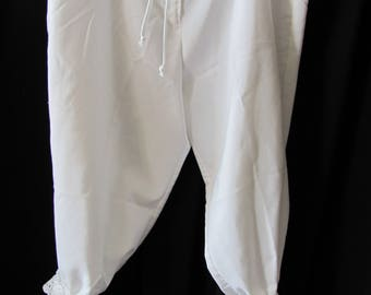 Upcycled Bloomers, pantalettes, drawers, stage costume, cosplay, knickers. historical, wagon train, trek, pioneer (small-medium)