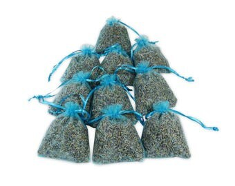 Lavender Sachets Air Freshener, Baby Shower Favor 3x4 Organza Bag Fragrant Hanging Linen Sachet for Aromatherapy, Potpourri - LS001-13