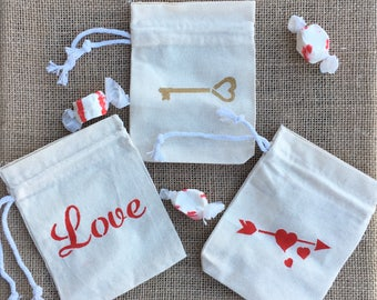 Valentine Treat Bags, Valentine's Party Favor Bags, Valentine Party Bags, Valentine's Party, Valentine Goodie Bags, Valentine's Day Party