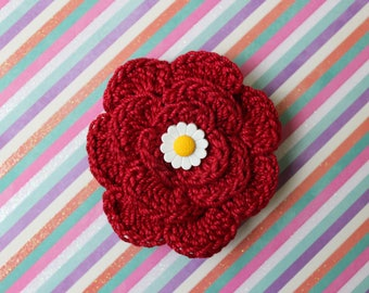 Live, Love, Woof Crochet Flower Accessory