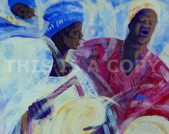 DONO MUSIC: Downloadable Authentic African Painting Direct From The Artist