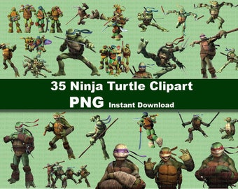 INSTANT DL- 35x TMNT Teenage Mutant Ninja Turtles  clipart png - printable Digital Clipart Graphic Instant Download