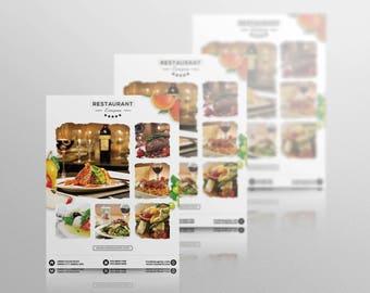 Restaurant Flyer - Photoshop Template - INSTANT DOWNLOAD