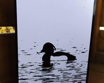 1 Wildlife art greeting card of wetland bird.