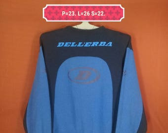 Vintage Dell'erba Sweatshirt Spellout Big Logo Sweater Colour Block Size O Nike Sweatshirt Adidas Sweatshirt Color Block Shirt