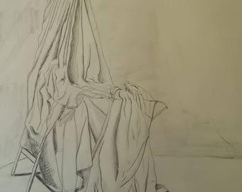 Drapped cloth