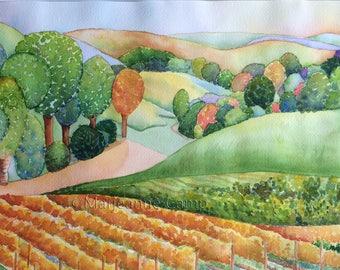 Original Watercolor A Beautiful World