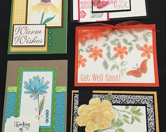 Floral Greeting Cards (Set of 5) Group D