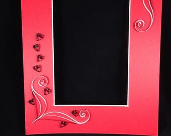 Quilled Photo Mat with Hearts