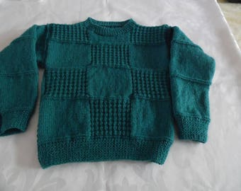 Emerald Green checkered sweater size 4t