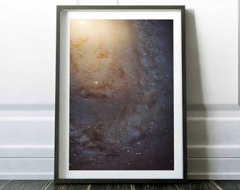 Galaxy print / Space poster / Outer space art / Universe print / Astronomy poster / Hubble telescope / Space wall art / Nasa poster