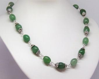 Necklace green aventurine