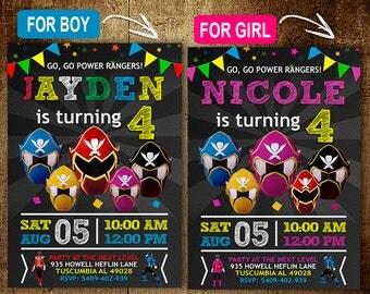 Power Rangers Birthday Invitation. Invitations. Power Rangers Invitation. Power Rangers Birthday Party. Power Rangers Party. DIY