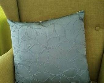 Turquoise-beige handmade unique pillow