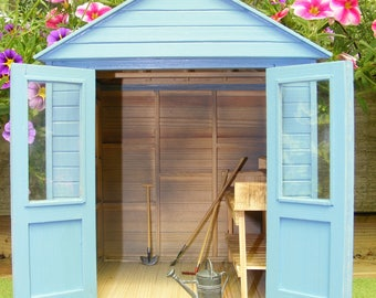 Items similar to miniature fairy potting shed for garden for Mini potting shed