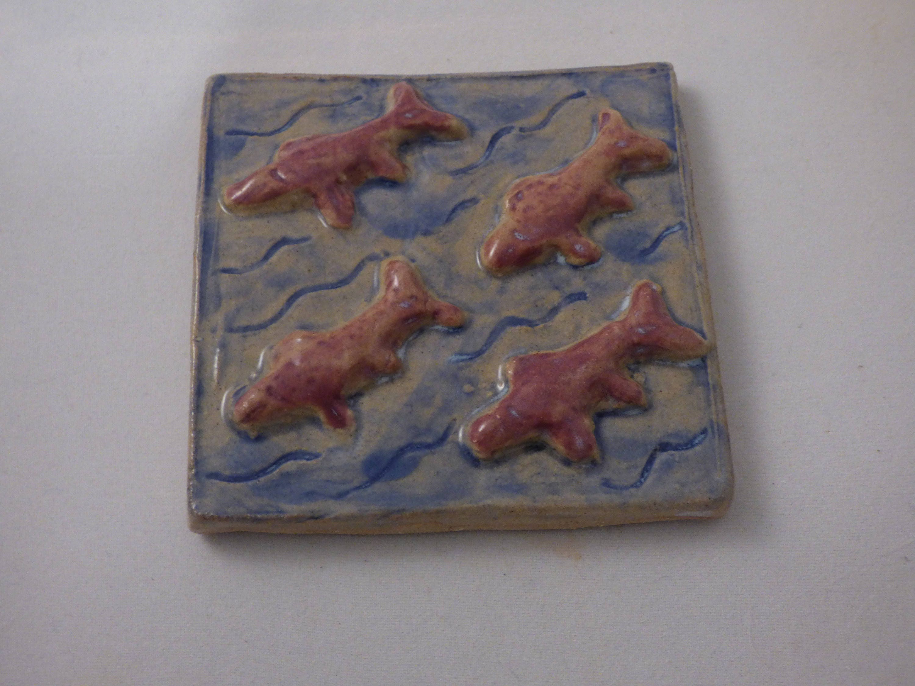 Hand painted ceramic tile ceramic coaster ceramic trivet ceramic hand painted ceramic tile ceramic coaster ceramic trivet ceramic wall tile fishes dailygadgetfo Image collections
