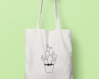 Geometric cactus bag (duplex)