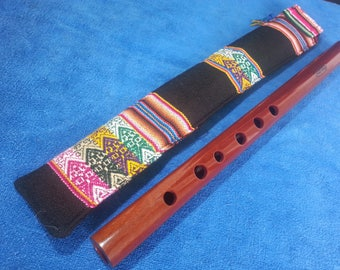 Native American style wood quena flute