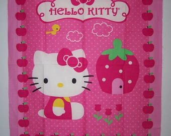 Hello Kitty Cupcake Panel With Coordianting Fabric