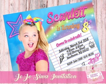 JoJo Siwa Birthday Invitation- Customized Invitation