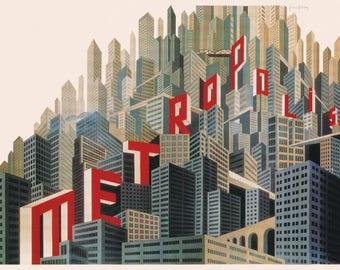 Poster - Metropolis - Fritz Lang - 1927 - fine art gallery