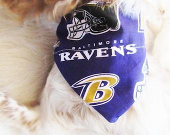 Baltimore Ravens Dog Collar Bandana