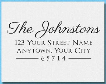 Personalized Calligraphy  Address Stamp, Custom Address Stamp, Self Ink Return Address Stamp, Personalized Stamp Gift, Housewarming Gift
