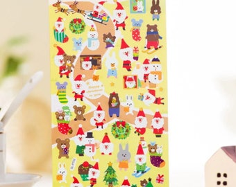 Cute DIY Colorful Christmas hot stamping kawaii Stickers Diary Planner Journal Note Diary Paper Scrapbooking- DESIGN 4