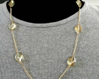Gold Crystal and Chain
