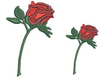 NeedleUp - Single Stem Rose embroidery design