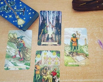 4 Cards Tarot reading or monthly subscription/tarot card reading four cards per month-divination future