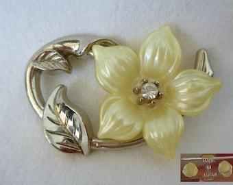 VJ146 : Japanese brooch flower design ,made in japan