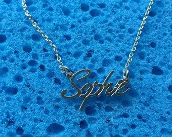 Sophie name necklace,sterling silver 925, Custom your Design